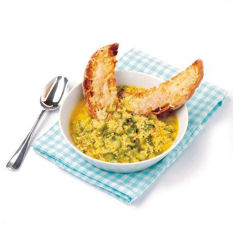 Ricetta Zuppa di zucchine all'uovo