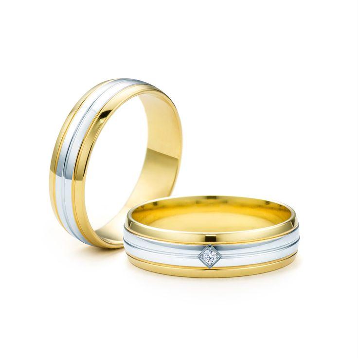 SAVICKI - Obrączki ślubne: Obrączki z dwukolorowego złota (Nr 240) - Biżuteria od 1976 r.