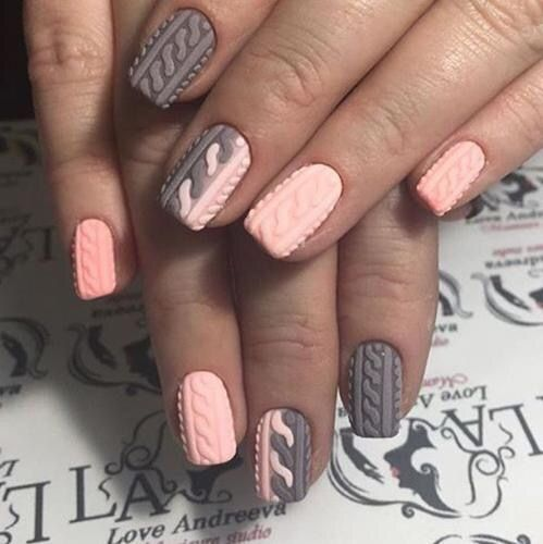 Accurate nails, Beautiful nails, Birthday short nails, Coffee nails, Gradient nails 2016, Ideas of gentle nails, Nail designs with pattern, Pale pink nails