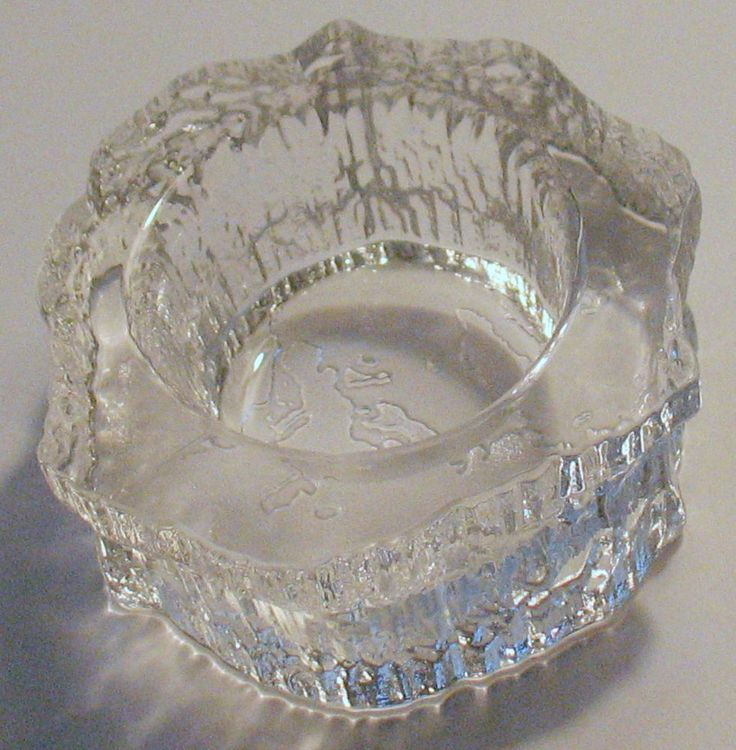 iittala Glass Aslak Ashtray Votive Holder Mid Century Modern FINLAND WIRKKALA