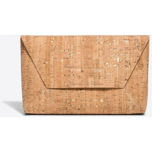 J.Crew Cork envelope clutch ($41) ❤ liked on Polyvore featuring bags, handbags, clutches, cork purse, beige envelope clutch, beige clutches, j crew purses and beige handbags