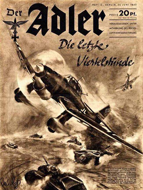 """Revista de la Luftwaffe """"Der Adler"""" 06.1940"""