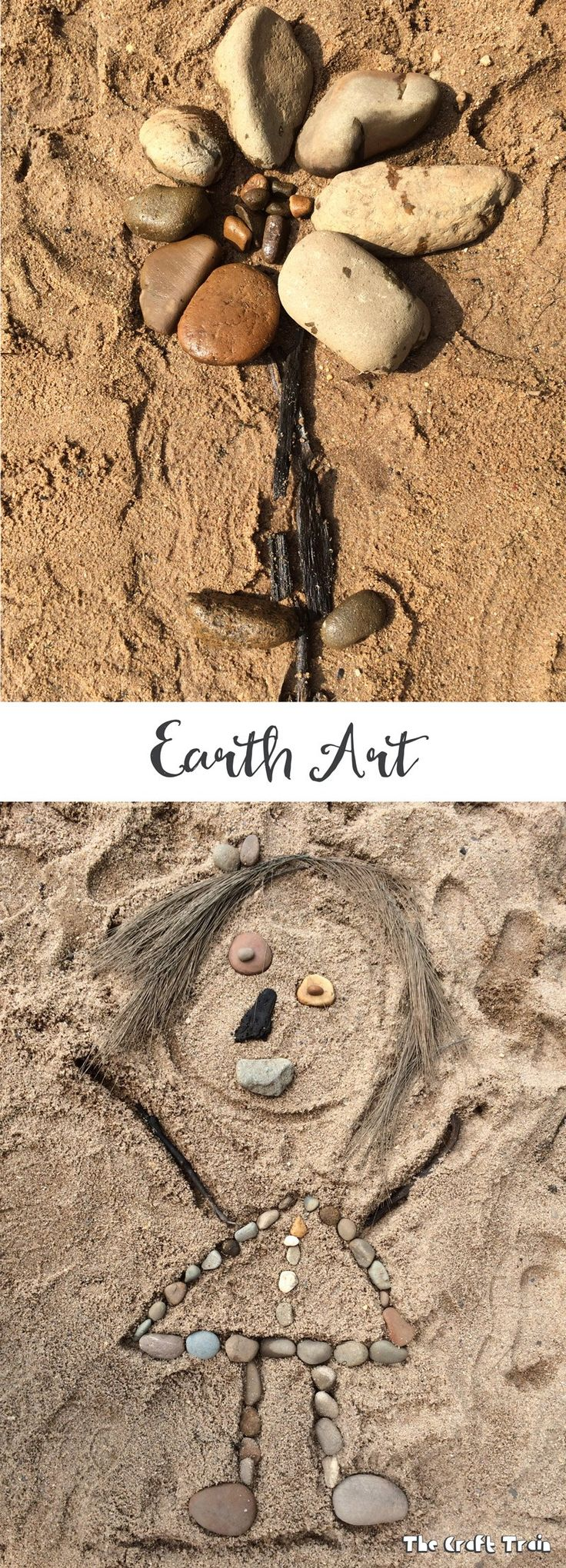 Creating earth art, a simple open ended nature craft for kids