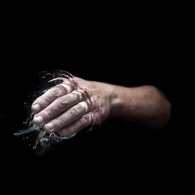 """Lake"" by Luca Pierro on Flickr. lake luca_pierro photography hands water black"