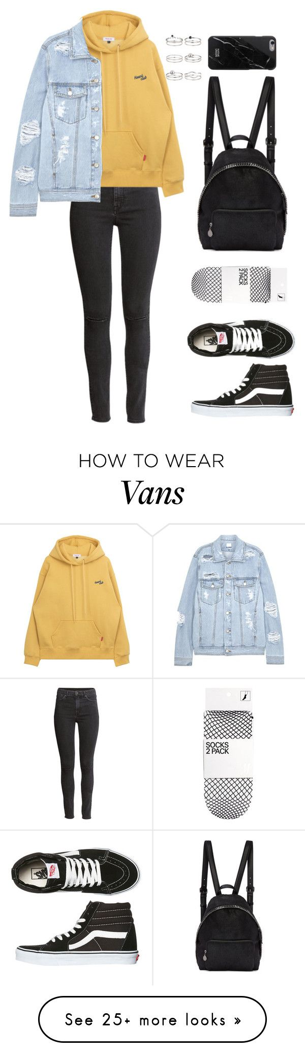 """Untitled #141"" by manerefortis on Polyvore featuring H&M, SJYP, Vans, STELLA McCARTNEY, Native Union and Miss Selfridge(Fitness Inspiration Clothes)"