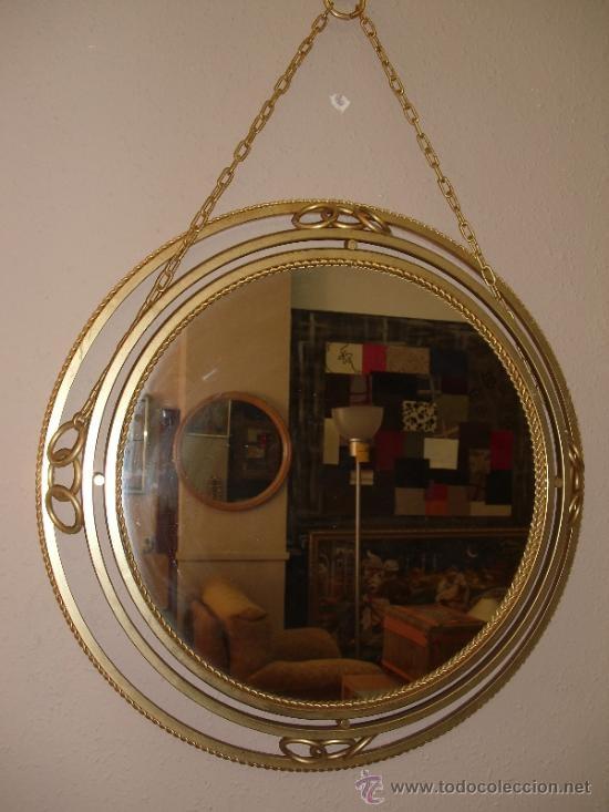 Espejo a os 50 60 muy original 79 espejos miroirs for Miroir rose gold