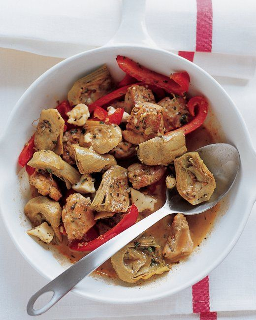 Chicken with Artichoke Hearts Because the chicken in this Mediterranean-style dish is braised, thighs are best. Dark meat stays moister tha...