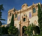 Historic building in Balboa Park, set in the Spanish quarter of San Diego