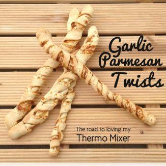 Garlic Parmesan Twists {Thermomix}