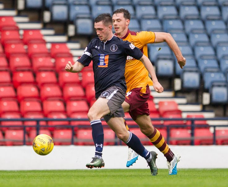 Queen's Park's Thomas Orr in action during the Betfred Cup game between Queen's Park and Motherwell