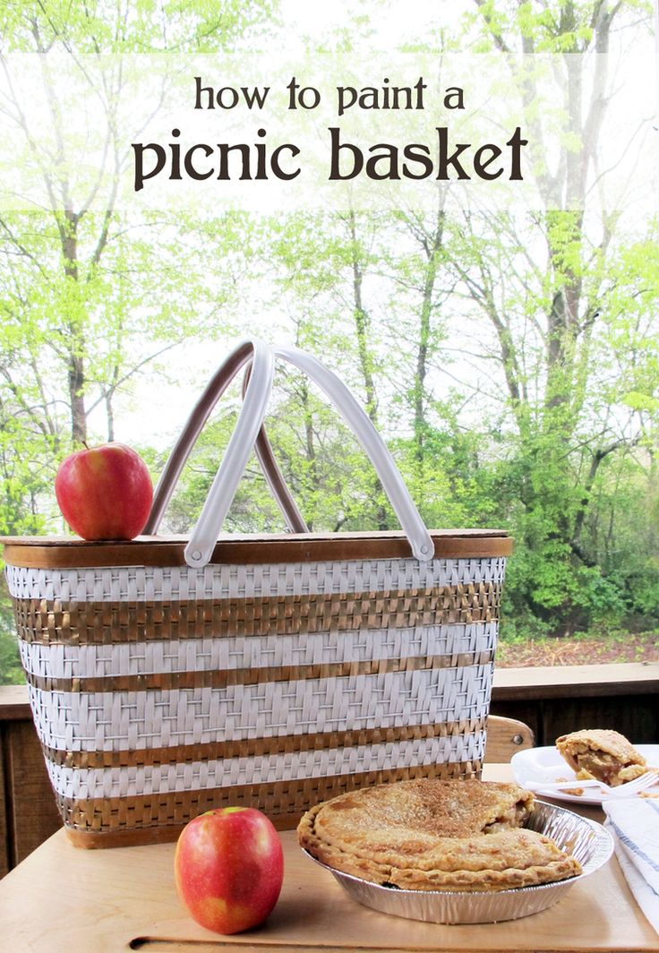 a fun Mother's Day gift idea! how to paint a vintage picnic basket for under $20