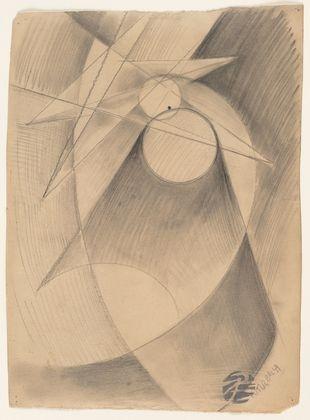 Giacomo Balla. Mercury Passing in Front of the Sun. (1914)