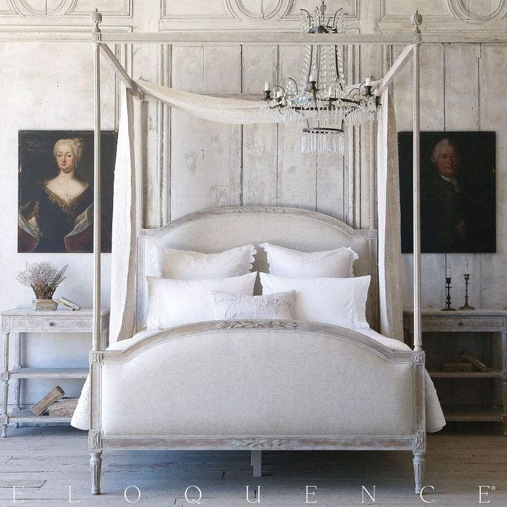 Eloquence Dauphine Canopy Bed Beach House Natural