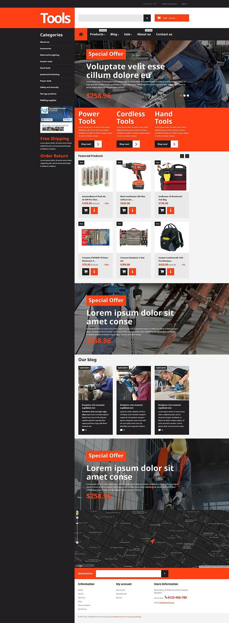 The Best Home Repair, Contractor & DIY Store Themes for Shopify - Tools & Equipment (Shopify theme) Item Picture