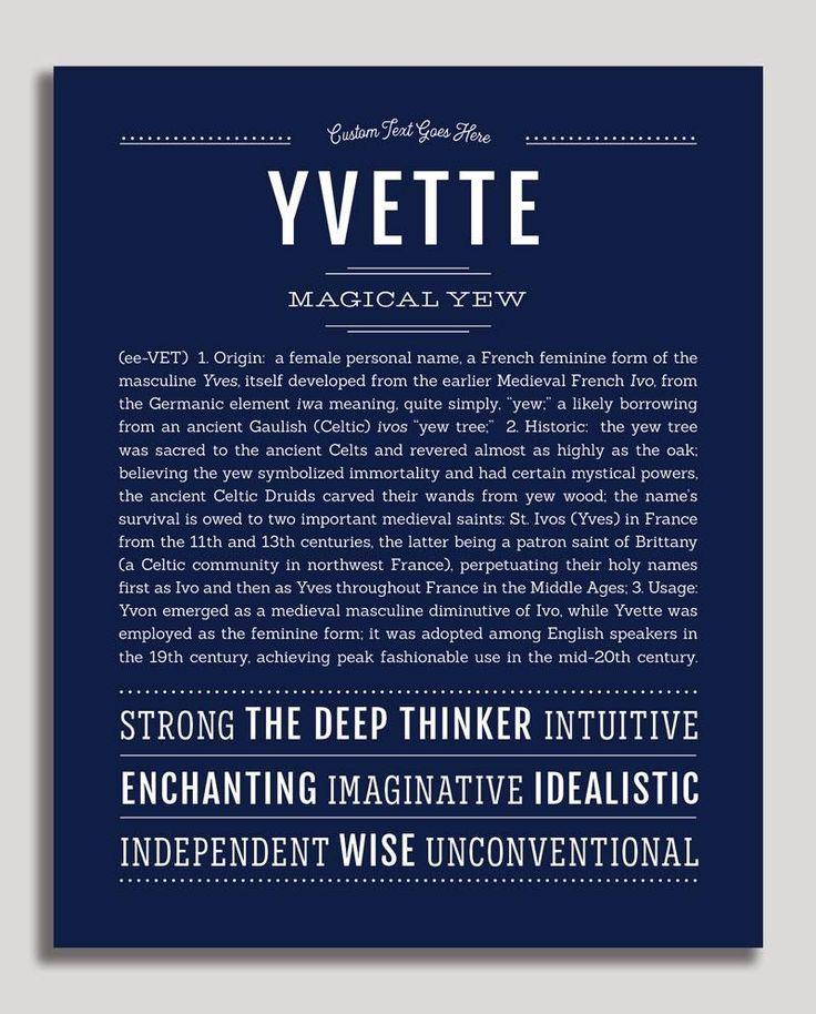 Yvette Classic Name Print Ahne Lila Und Hering