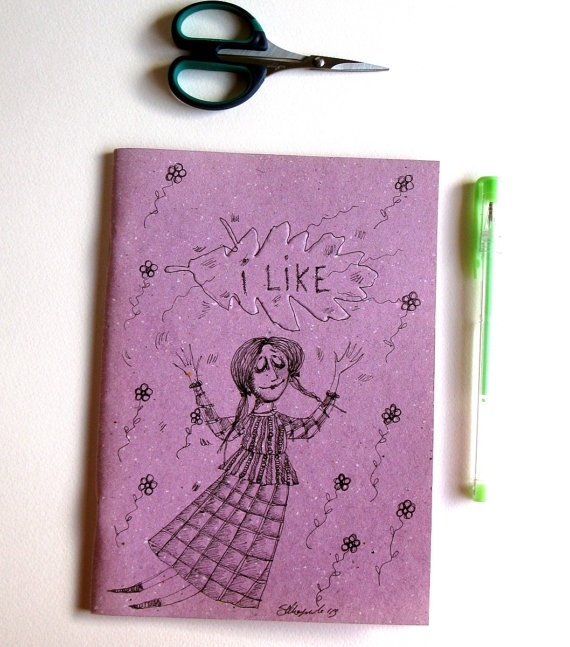 I LikeExercise book in ecological recycled purple by gufobardo, €15.00