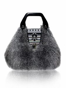 GOSHICO Fur bag with an embroidered flap http://www.mybags.co.uk/goshico-fur-bag-with-an-embroidered-flap.html