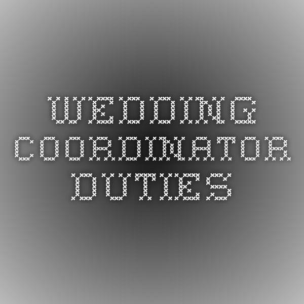 wedding coordinator duties