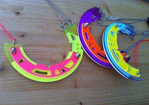 nefelia architectural design- get crazy with Nefelia's color abstract necklaces!!
