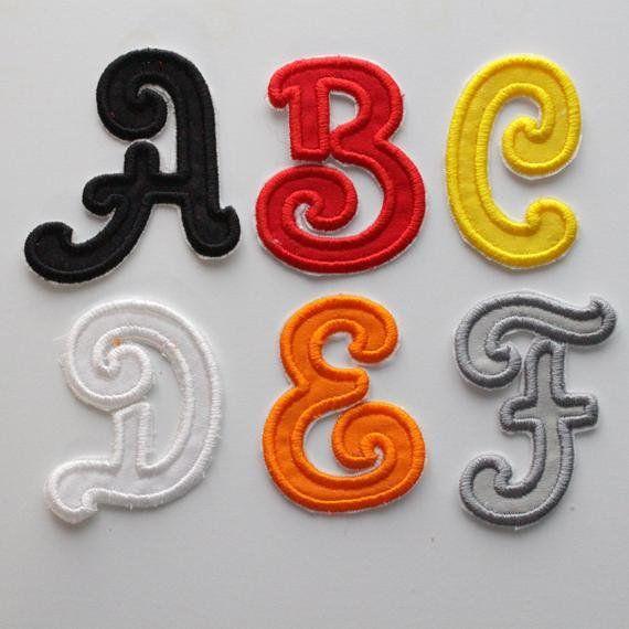 3 Zoll Alphabet Eisen Auf Buchstaben Bunte Alphabet Abc Eisen