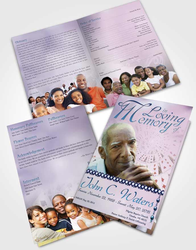 Bifold Order of Service Obituary Template Brochure Lets Play Early