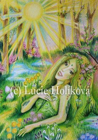 Výtvarnice LUCIE HOLÍKOVÁ - Fotoalbum - Slovanské bohyně - Bohyně VESNA - Jaro