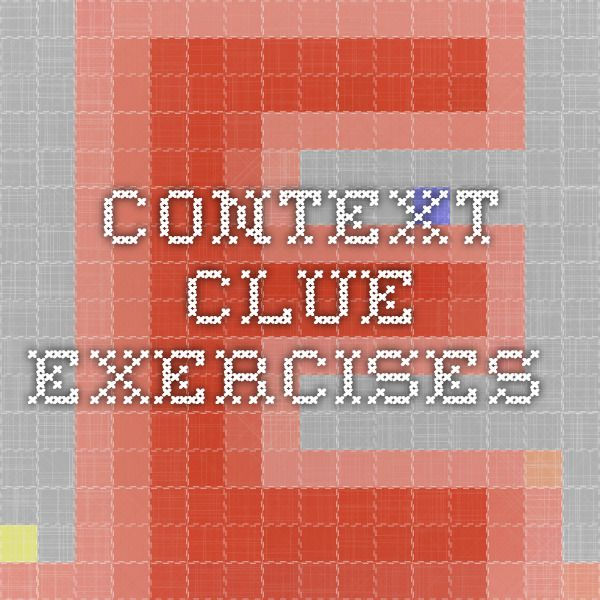 Context clue exercises
