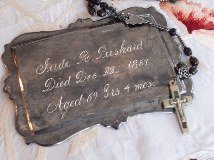 victorian coffin plates - Google Search