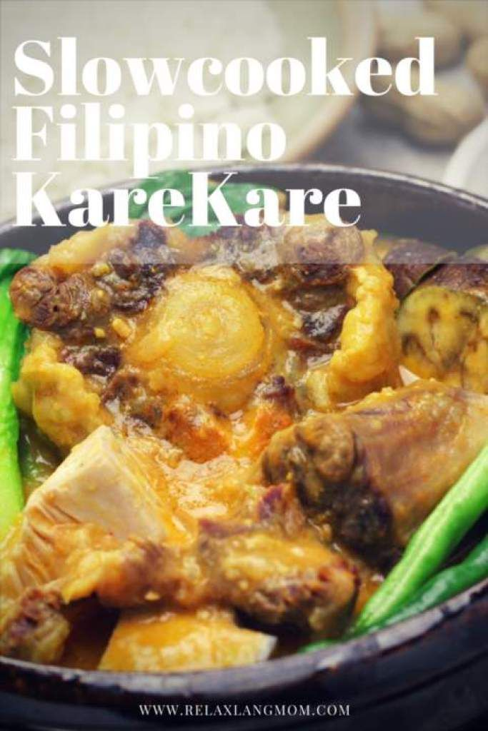 a filipino dish called kare kare Kare-kare is a classic and beloved filipino stew made of meat and vegetables in thick and creamy peanut sauce, traditionally with shrimp paste (bagoong) and rice on the side filipinos often reserve this dish for big parties like town fiestas, christenings, even weddings.