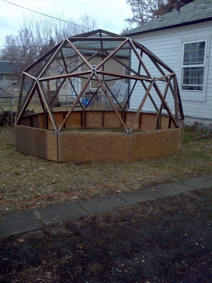 19 mejores im genes de geodesic dome en pinterest for Geodesic greenhouse plans free