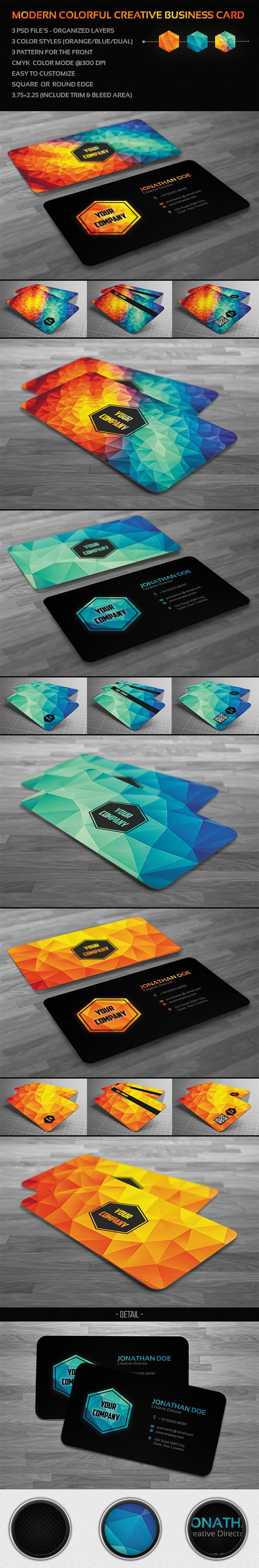 19 best business card images on pinterest business cards business creative and clean modern polygon business card used for all purpose very easy editable text layers or colorsgraphi reheart Gallery