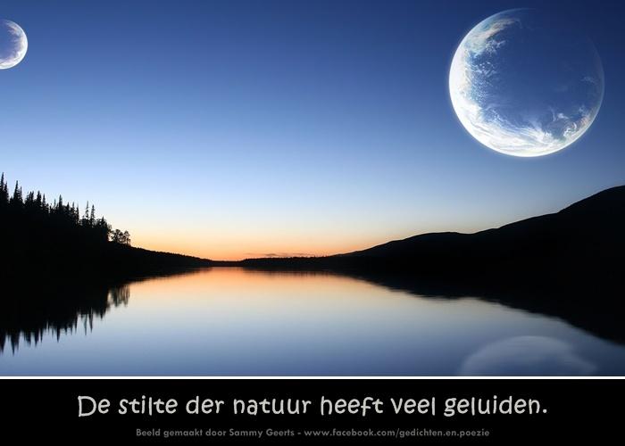 Citaten Natuur : De stilte der natuur heeft veel geluiden spreuken