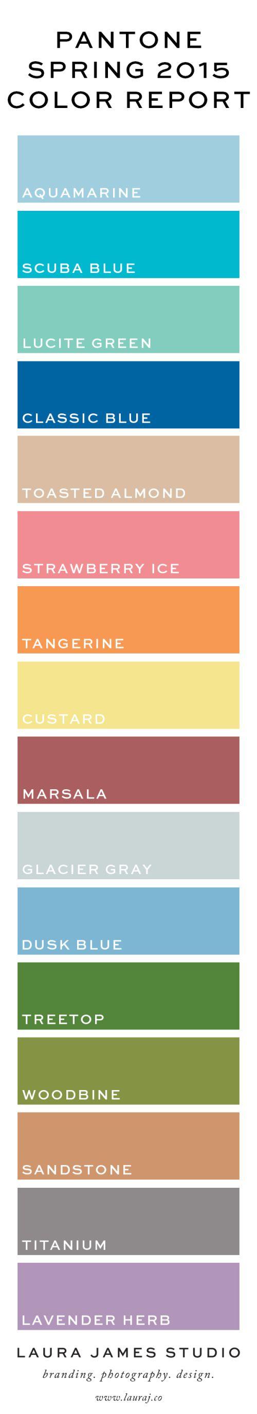 laura-james-studio-pantone-2015-color-report-tiles-chips-aquamarine-scuba-blue-lucite-green-classic-toasted-almond-strawberry-ice-tangerine-custard-marsala-glacier-gray-dusk-treetop-woodbine-sandstone-titanium-lavender-herb-graphic-design