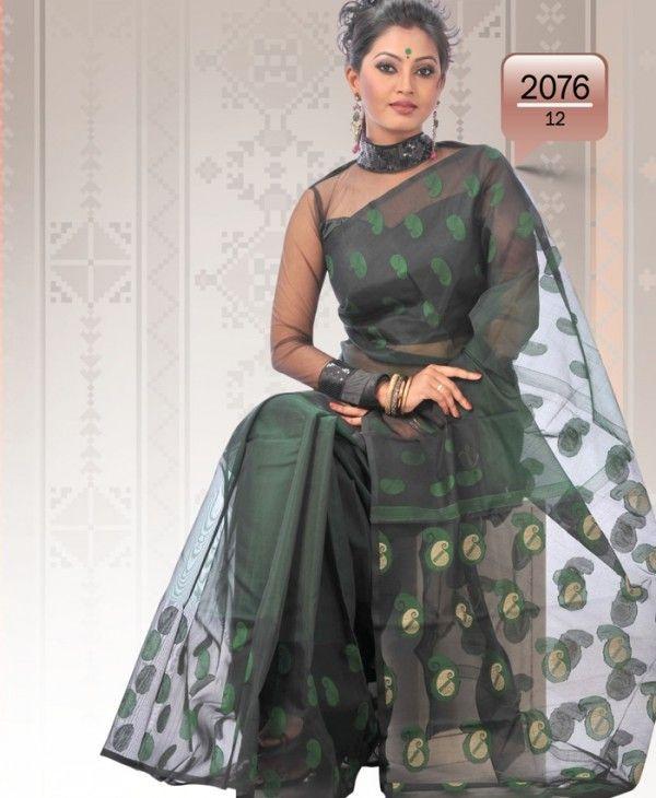 Muslin Jamdani Saree J76 - Saree Online Shopping - Dhakai Jamdani Saree, Eid Saree, Silk Saree, Muslin Saree, Cotton Saree