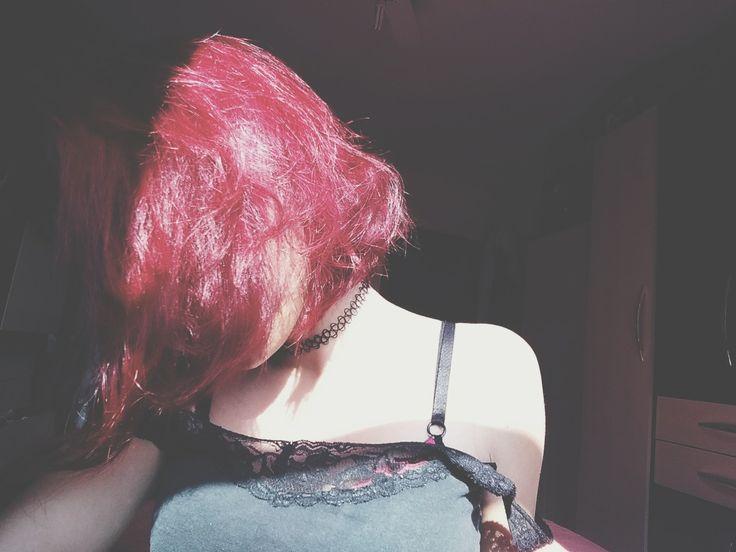 #redhair #bright #grunge #choker #girl