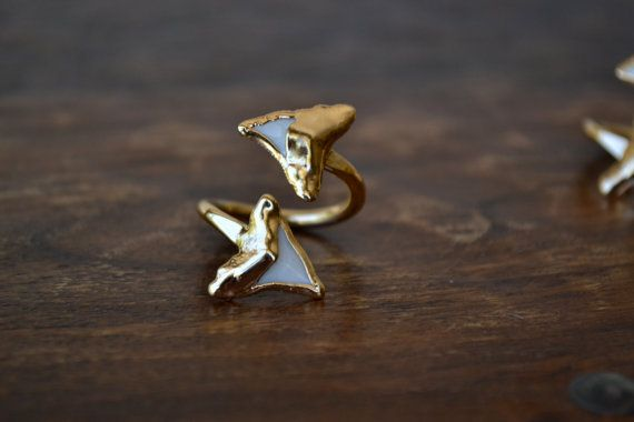 Double Shark Tooth Ring /// Shark by luxdivine