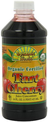 Dynamic Health 100% Pure Organic Certified Tart Cherry Juice Concentrate, 16-Ounce for only $10.59 You save: $8.14 (43%)