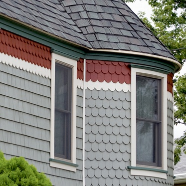 Scalloped Siding On The Turret Exterior Colors In 2019