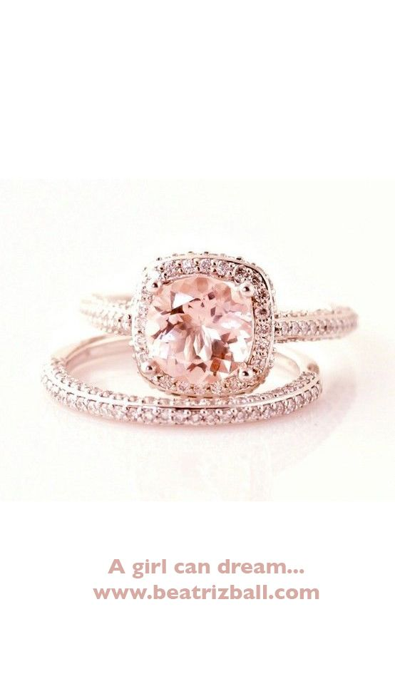 Hmm love the style but not sure if I could wear a pink ring the rest of my life! It is beautiful though! Orrrrr it could be my #anniversaryring                                                                                                                                                      More