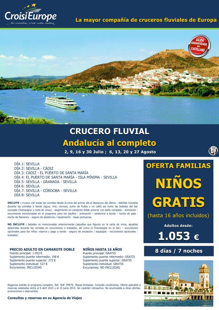 Crucero Fluvial por Andalucía - oferta Niños GRATIS - Todo Incluido - salidas julio y agosto (8d/7n) ultimo minuto - http://zocotours.com/crucero-fluvial-por-andalucia-oferta-ninos-gratis-todo-incluido-salidas-julio-y-agosto-8d7n-ultimo-minuto/