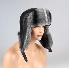 Hombre Sombrero gorra de piel de Chinchilla Aviador Uschanka Gorra De Invierno: 168,35 EUREnd Date: 09-sep 21:32Buy It Now for only: US…