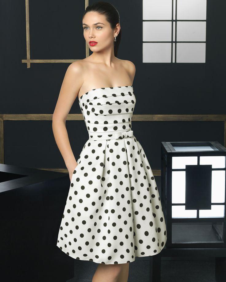 9T108 Vestido de Cocktail de Rosa Clará 2016