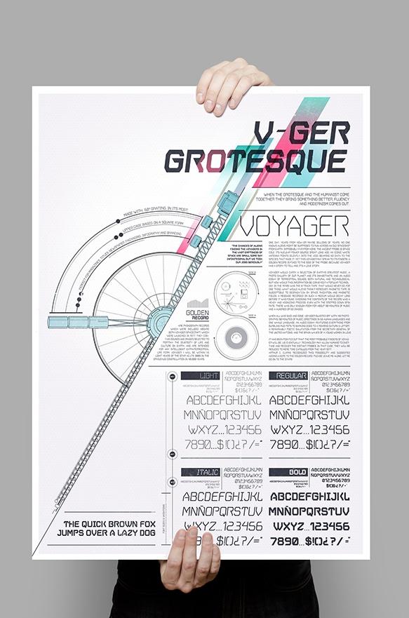 V.GER Grotesque by Mateo Rios, via Behance