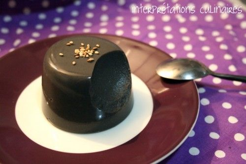 Black Sesame Flan -- using non-dairy milk, black sesame paste (intending to ground sesame seeds) and agar.