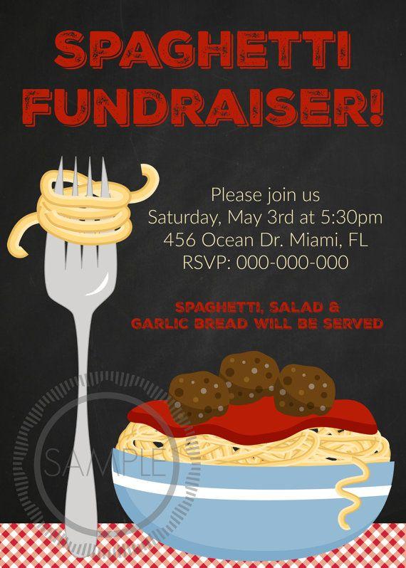spaghetti dinner    fundraiser    potluck by myprettypartyshoppe