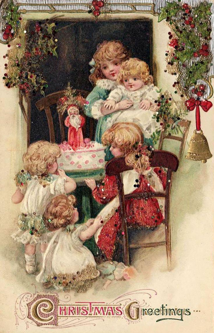 как надо винтажные открытки новый год рождество отношениях царили любовь
