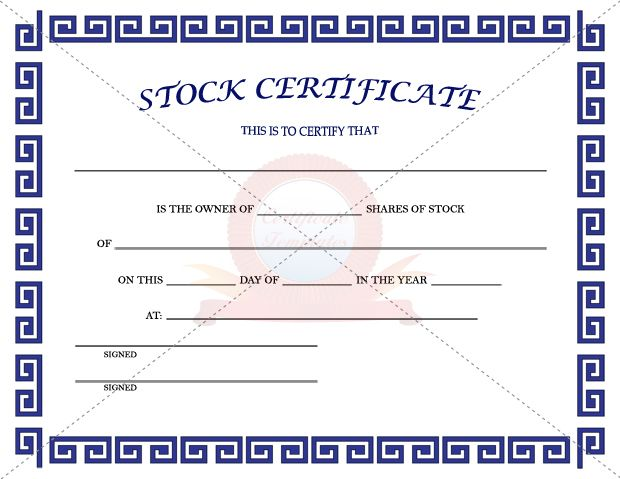17 Best images about Certificate Template – Stock Certificate Template