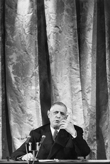 Marc Riboud //   Charles de Gaulle, 1959
