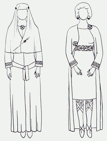 Queen Arnegunde died ca. 570 Reconstruction by Max Martin, 1991