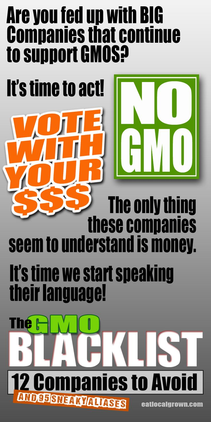 PLEASE RE-PIN! #gmoBlacklist http://eatlocalgrown.com/article/11357-blacklisted-12-food-companies-to-avoid.html